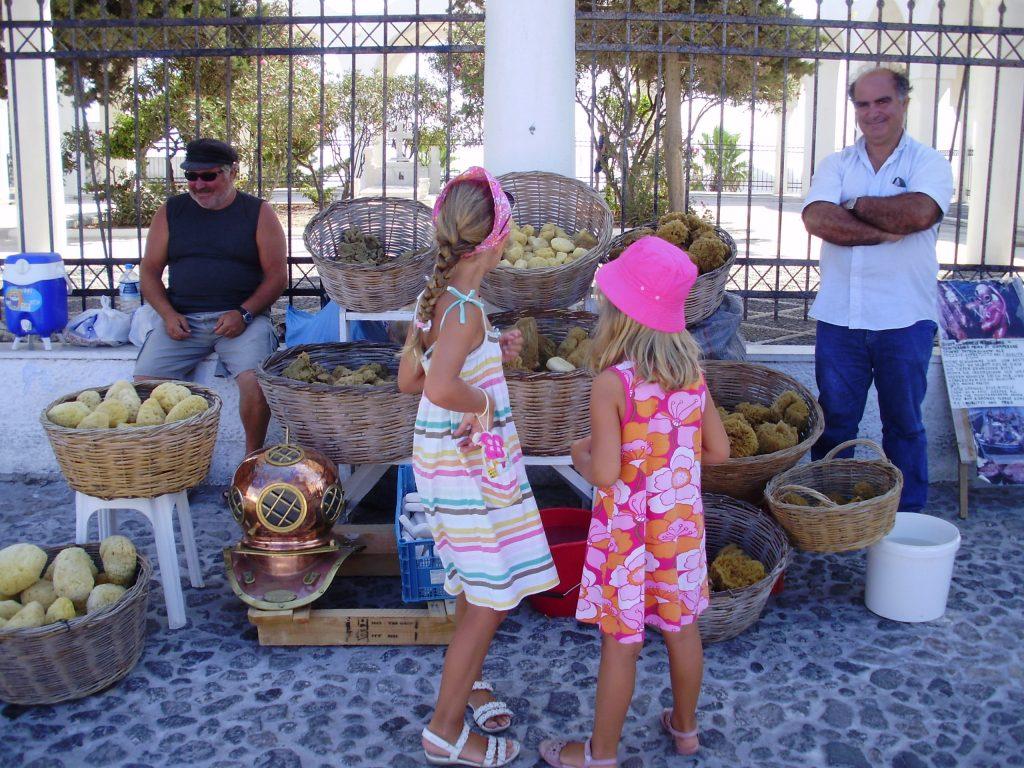 Vacances en famille à Santorin