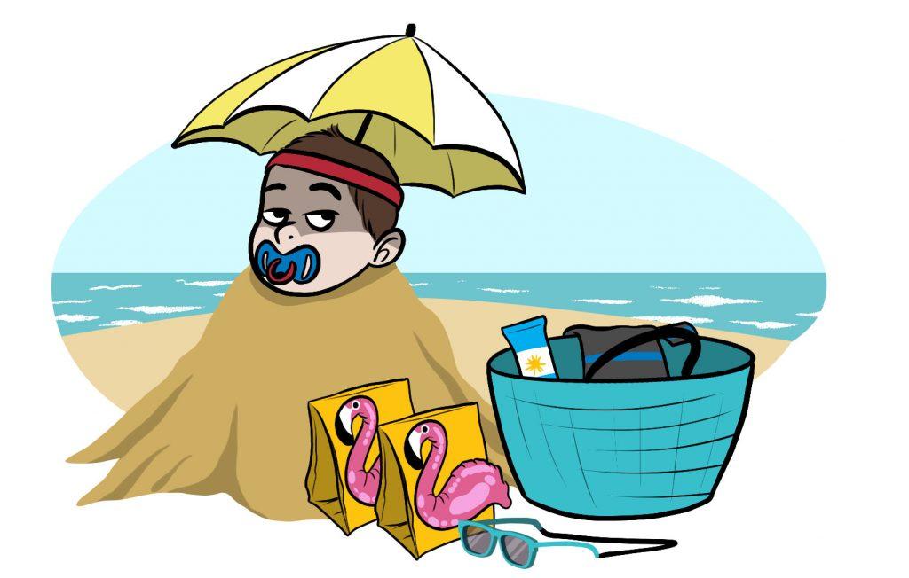 Qu'emporter à la plage avec bébé