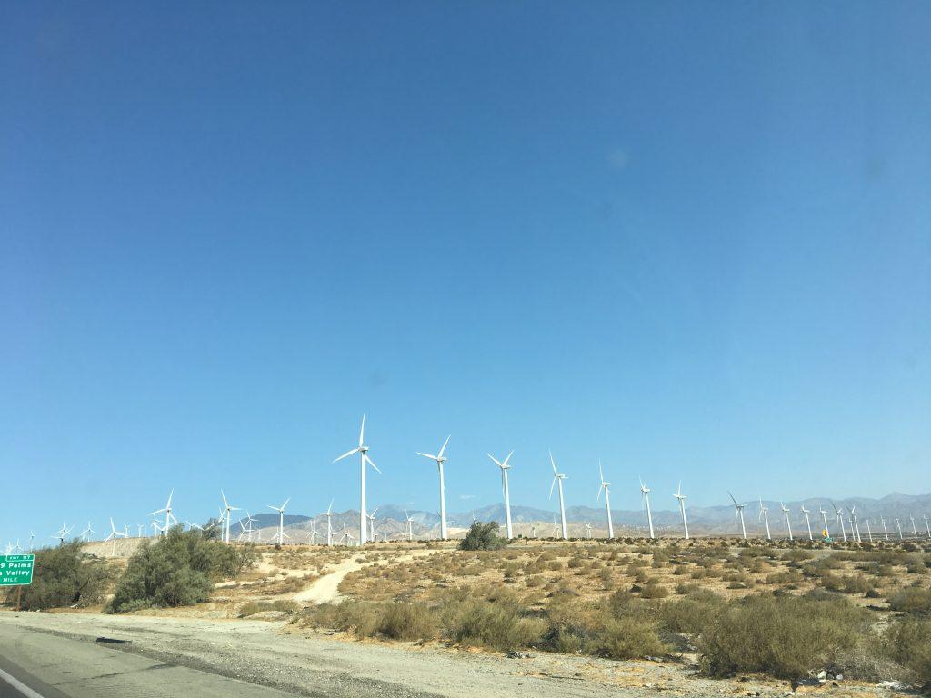 La route entre LA et Palm Spring