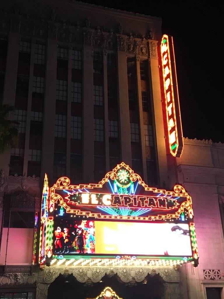 Hollywood Boulevard by night - Observatoire du Griffith Park - vacances en californie en famille