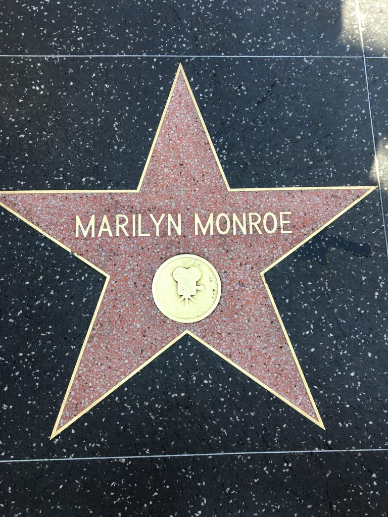 Hollywood Boulevard, the walk of fame
