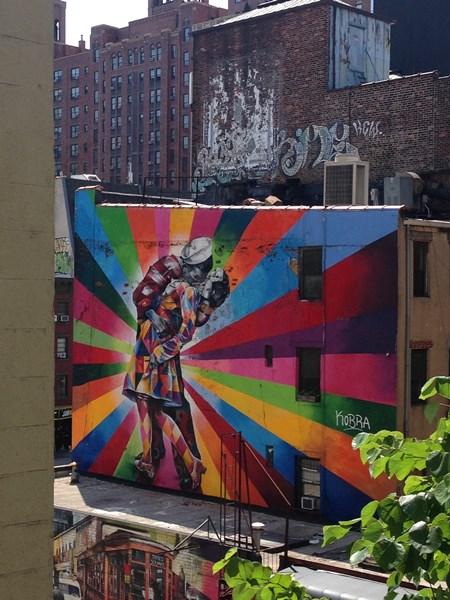 Street Art en balade sur la High Line à NY