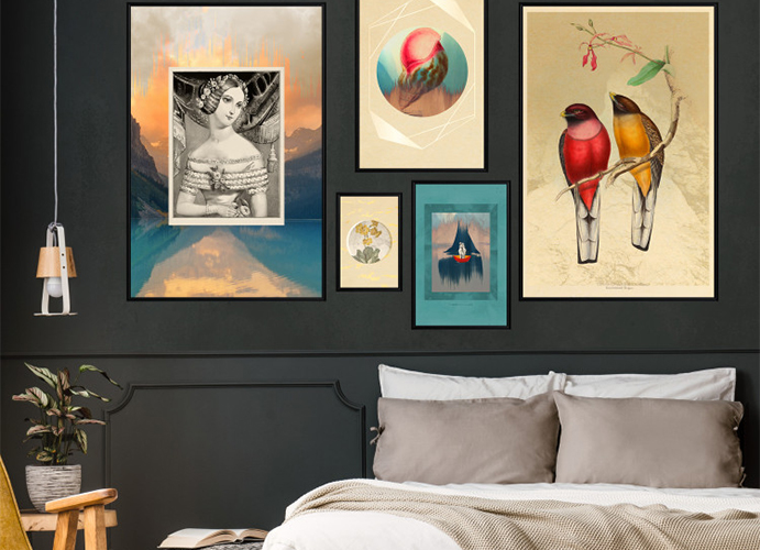 décorer chambre avec tableaux