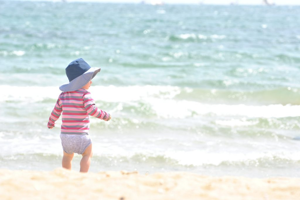 A la plage avec les enfants en toute sécurité