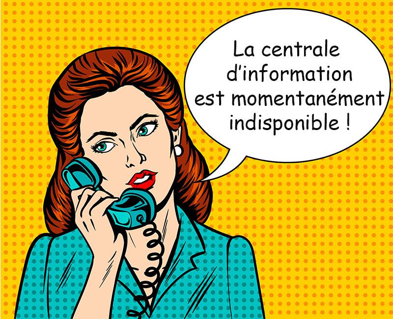 arrêter d'être la centrale d'information