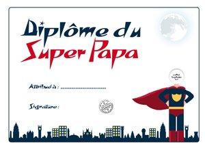 diplôme du super papa pour la fête des pères