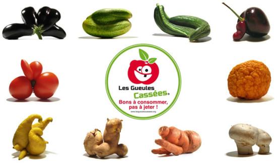 """fruits et légumes """"gueules cassées"""""""