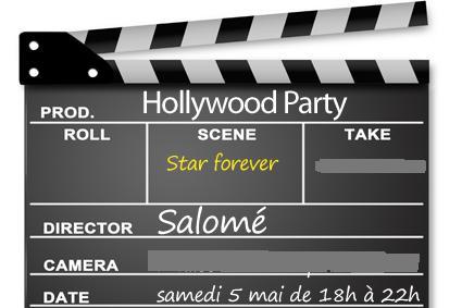 invitation anniversaire Hollywood