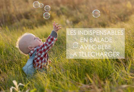 liste des indispensables quand on part en balade avec un bébé ou de jeunes enfants !