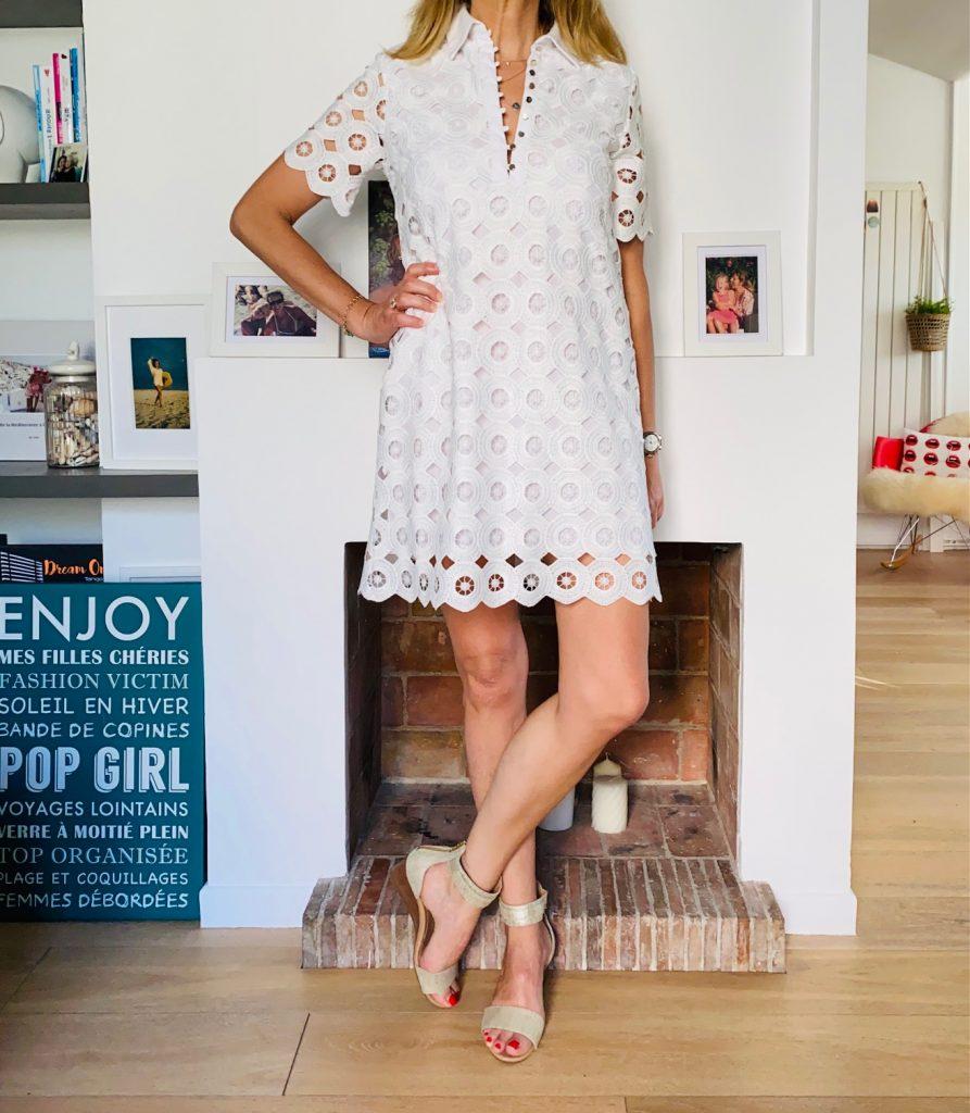 robe blanche - look Femmes Débordées
