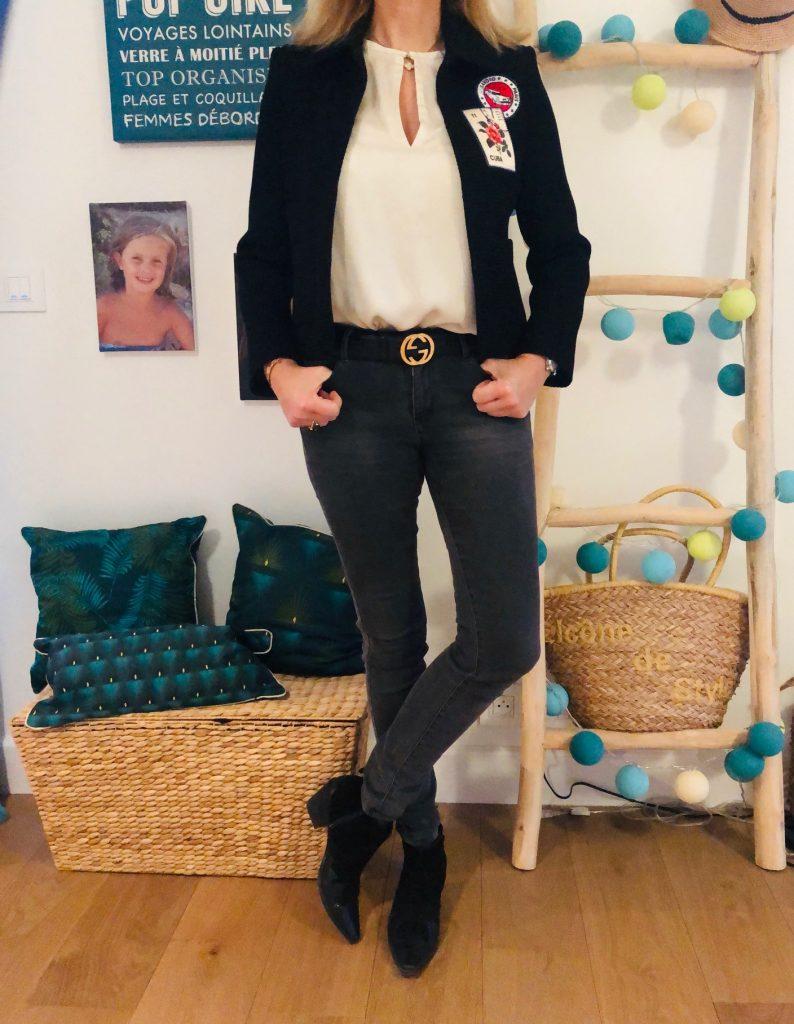 veste à patchs - look Femmes Débordées