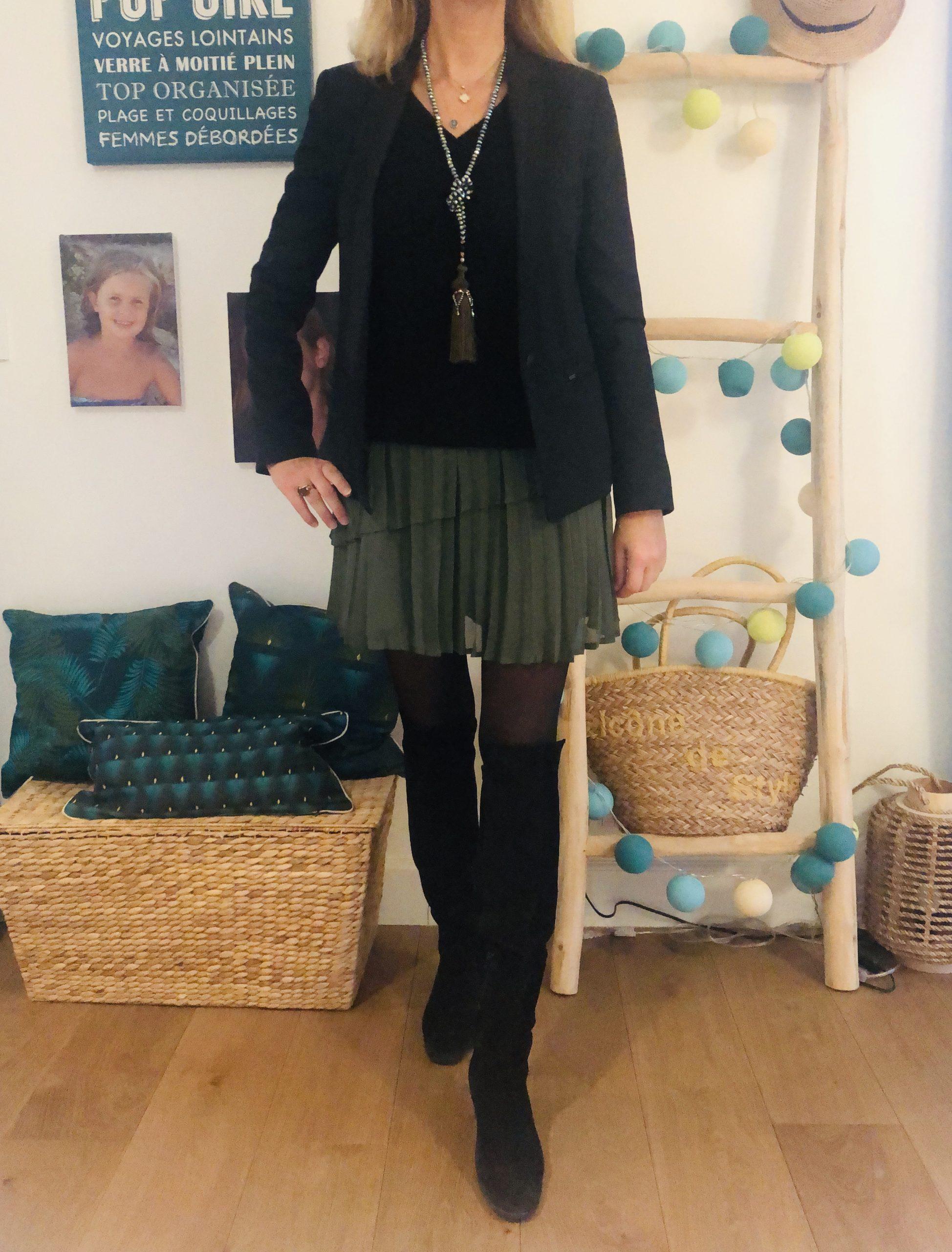 Jupette et cuissardes - look Femmes Débordées