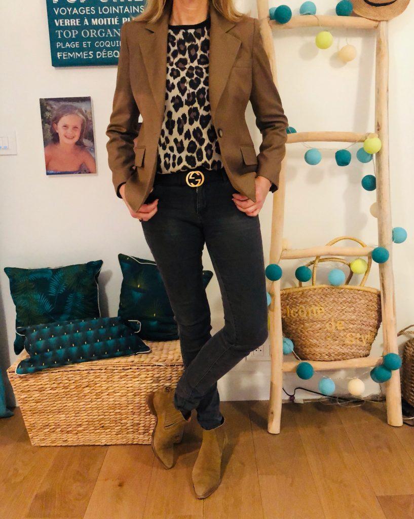 Léopard, beige et noir - look Femmes Débordées