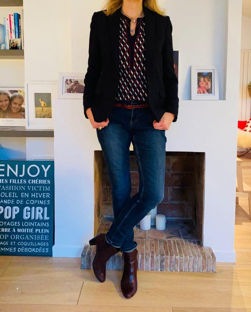 blouse et jean - look Femmes Débordées