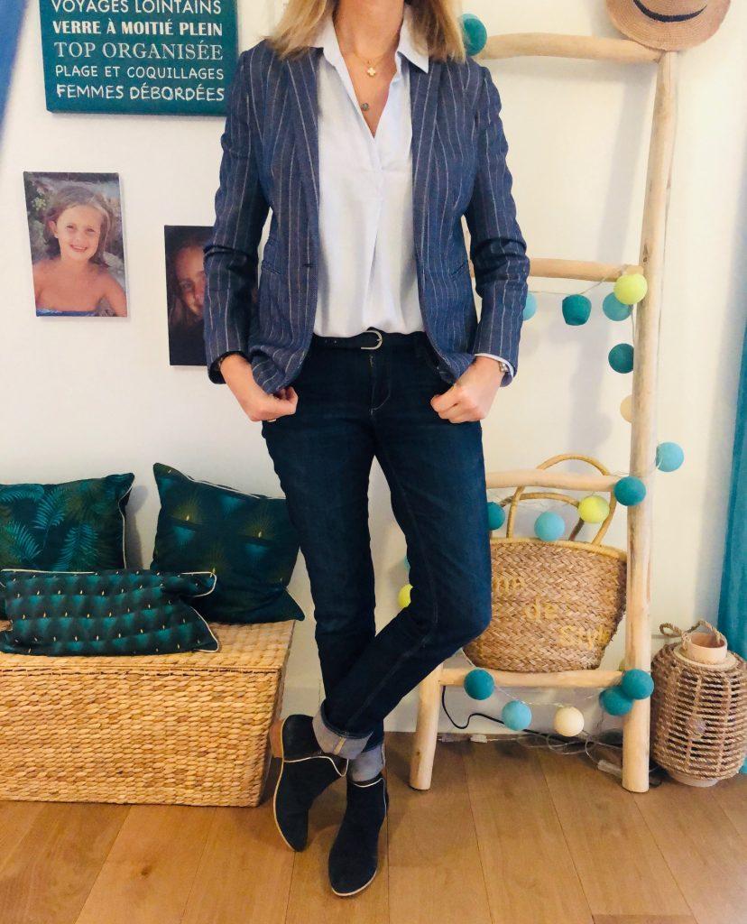 Look blue Monday - look Femmes Débordées