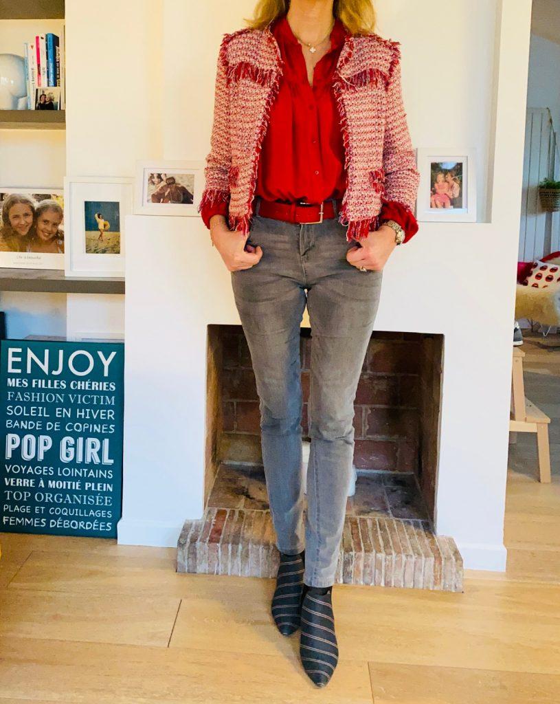 blouse rouge - Look Femmes Débordées