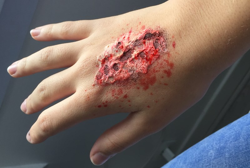 blessure gore pour Halloween