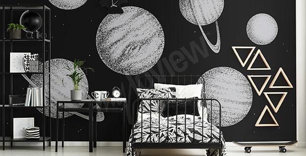 papier-peint-planete-en-noir-et-blanc-myloveview