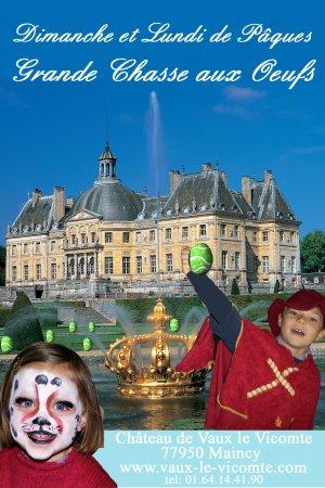 chasse aux oeufs au château de Vaux le Vicomte