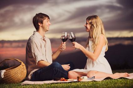 un pique-nique romantique en idée cadeau