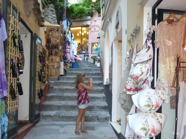Positano- la côte amalfitaine avec des enfants