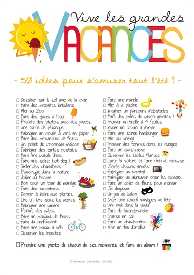 50 idées pour s'amuser tout l'été !