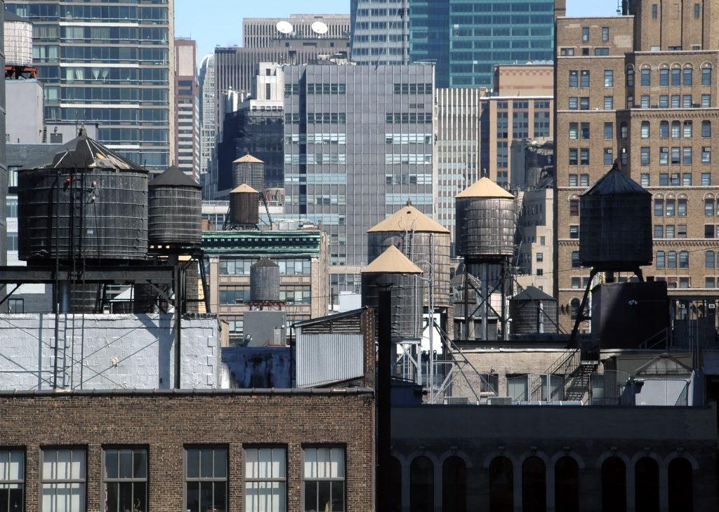 New-York réservoir à eau en bois