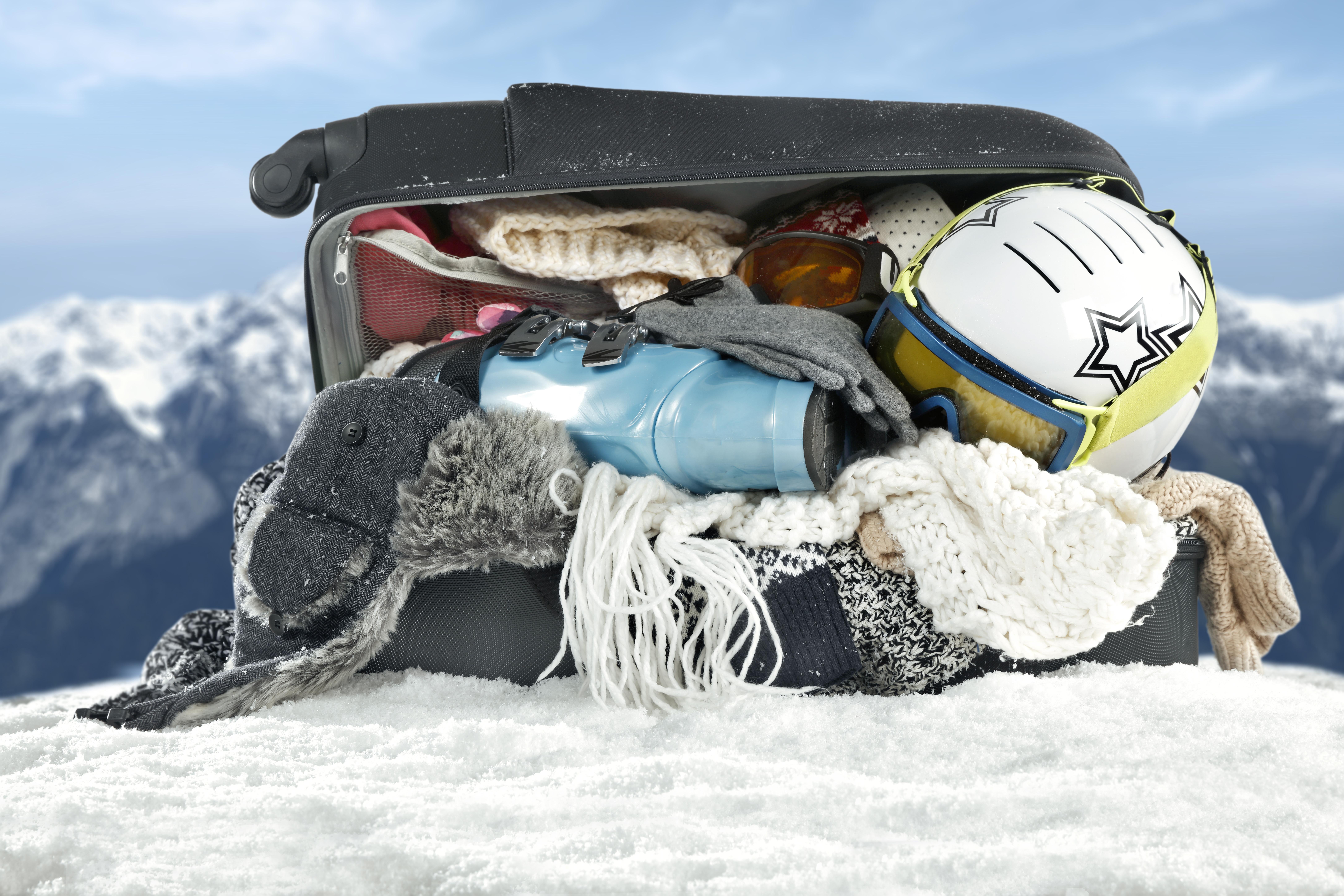 Réussir à boucler les valises de ski