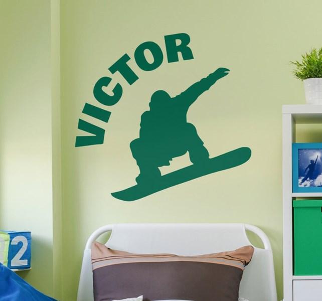 sticker-sport-silhouette-snowboard-personnalisable-13755