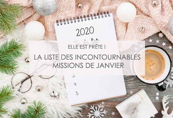 liste des missions de janvier